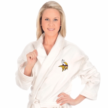 Minnesota Vikings UNISEX Bath Robe (White)