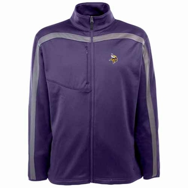 Minnesota Vikings Mens Viper Full Zip Performance Jacket (Team Color: Purple)