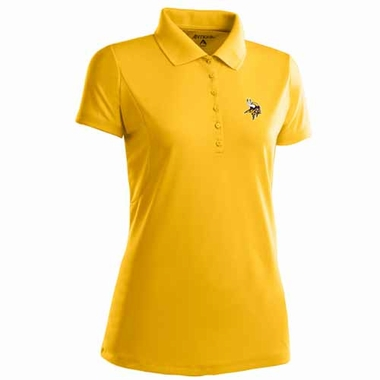 Minnesota Vikings Womens Pique Xtra Lite Polo Shirt (Alternate Color: Gold)