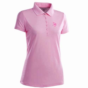 Minnesota Vikings Womens Pique Xtra Lite Polo Shirt (Color: Pink)