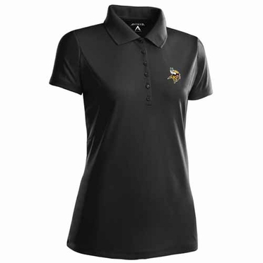 Minnesota Vikings Womens Pique Xtra Lite Polo Shirt (Team Color: Black)