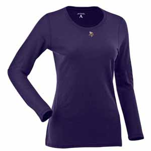 Minnesota Vikings Womens Relax Long Sleeve Tee (Team Color: Purple) - X-Large