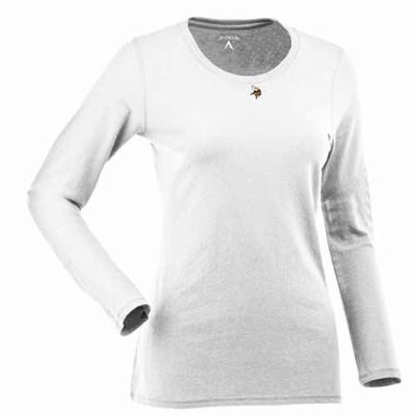 Minnesota Vikings Womens Relax Long Sleeve Tee (Color: White)