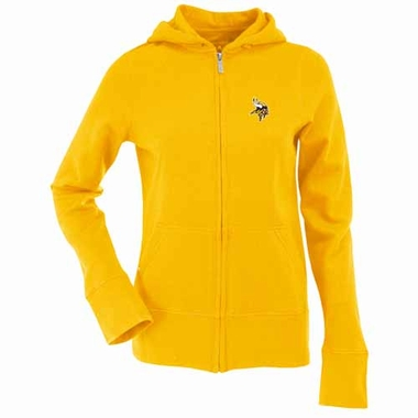 Minnesota Vikings Womens Zip Front Hoody Sweatshirt (Color: Gold)