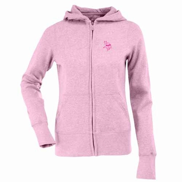 Minnesota Vikings Womens Zip Front Hoody Sweatshirt (Color: Pink)