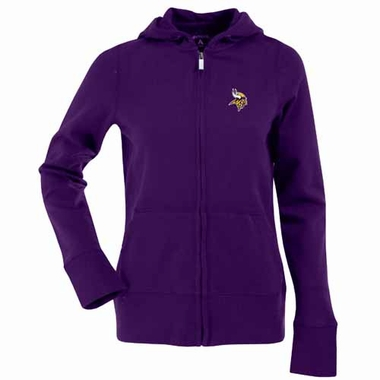 Minnesota Vikings Womens Zip Front Hoody Sweatshirt (Team Color: Purple)
