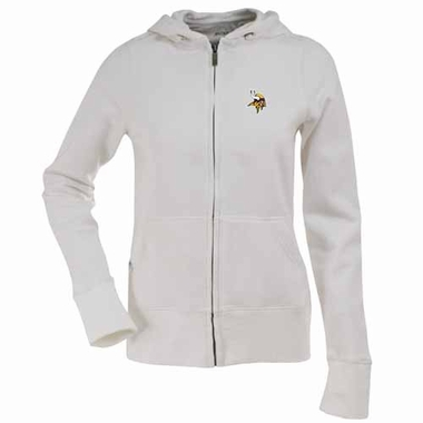 Minnesota Vikings Womens Zip Front Hoody Sweatshirt (Color: White)