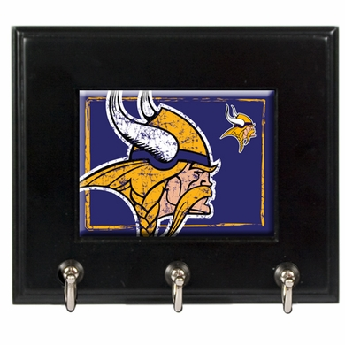 Minnesota Vikings Wooden Keyhook Rack