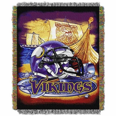 Minnesota Vikings Woven Tapestry Throw Blanket