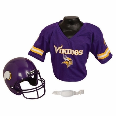 Minnesota Vikings Youth Helmet and Jersey Set