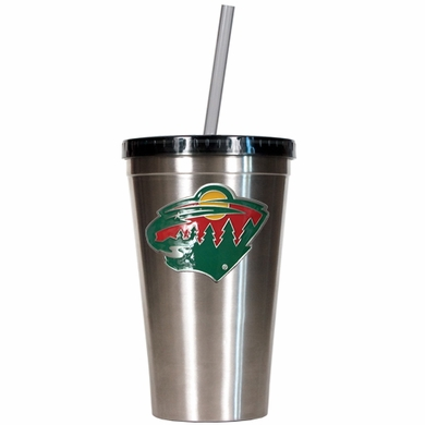 Minnesota Wild 16oz Stainless Steel Insulated Tumbler with Straw