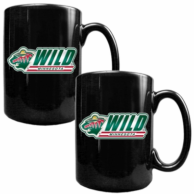 Minnesota Wild 2 Piece Coffee Mug Set (Wordmark)