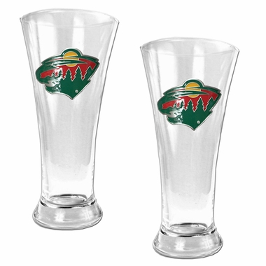 Minnesota Wild 2 Piece Pilsner Glass Set