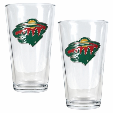 Minnesota Wild 2 Piece Pint Glass Set
