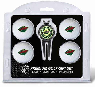 Minnesota Wild 4 Ball and Tool Gift Set