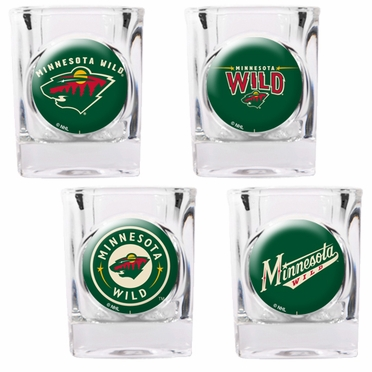 Minnesota Wild 4 Piece Assorted Shot Glass Set