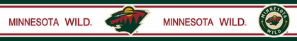 Minnesota Wild 5.5 Inch (Height) Wallpaper Border