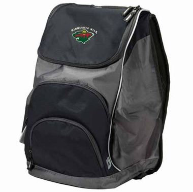 Minnesota Wild Action Backpack (Color: Black)