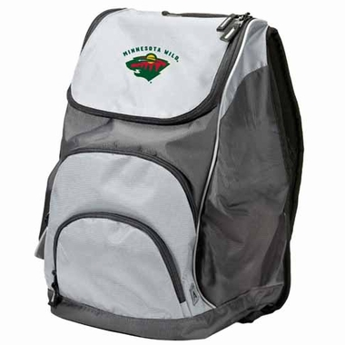 Minnesota Wild Action Backpack (Color: Grey)