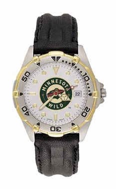 Minnesota Wild All Star Mens (Leather Band) Watch
