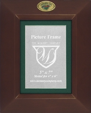 Minnesota Wild BROWN Portrait Picture Frame