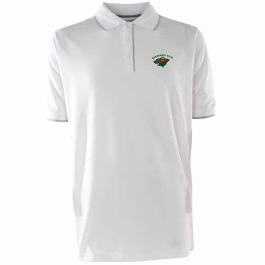 Minnesota Wild Mens Elite Polo Shirt (Color: White)