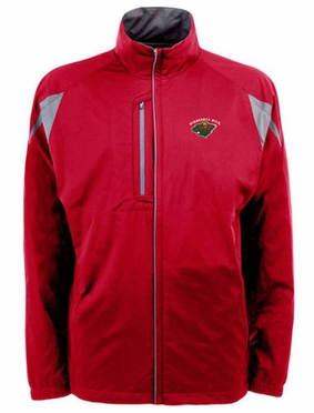 Minnesota Wild Mens Highland Water Resistant Jacket (Team Color: Red)