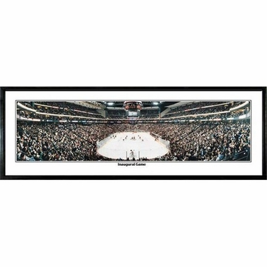 Minnesota Wild Inaugural Game Framed Panoramic Print