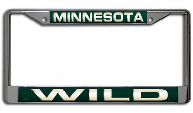 Minnesota Wild Laser Etched Chrome License Plate Frame