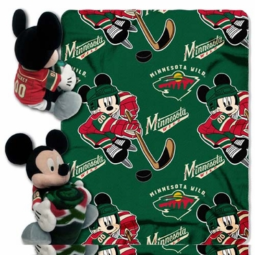 Minnesota Wild Mickey Hugger with Small Fleece Throw