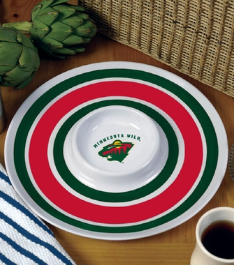 Minnesota Wild Plastic Chip and Dip Plate