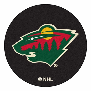Minnesota Wild 27 Inch Puck Shaped Rug