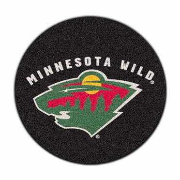 Minnesota Wild Puck Shaped Rug
