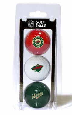 Minnesota Wild Set of 3 Multicolor Golf Balls