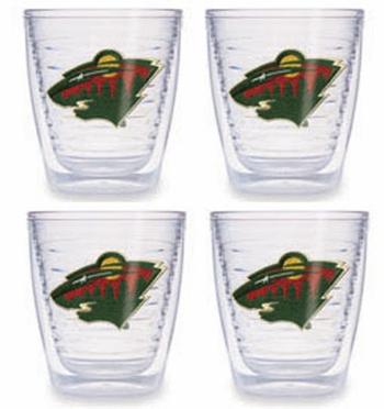 Minnesota Wild Set of FOUR 12 oz. Tervis Tumblers
