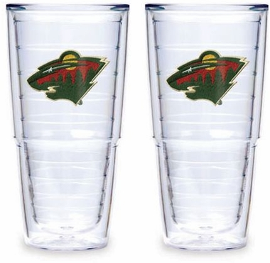 "Minnesota Wild Set of TWO 24 oz. ""Big T"" Tervis Tumblers"