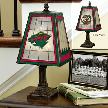 Minnesota Wild Small Art Glass Lamp