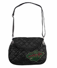 Minnesota Wild Sport Noir Quilted Saddlebag