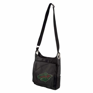 Minnesota Wild Sport Noir Sheen Crossbody Bag