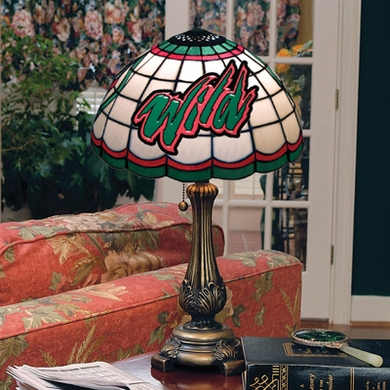 Minnesota Wild Stained Glass Table Lamp
