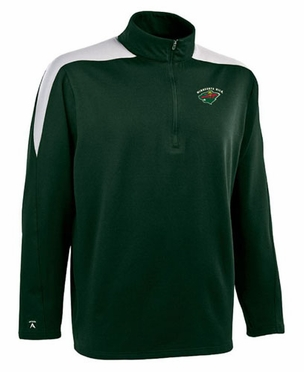 Minnesota Wild Mens Succeed 1/4 Zip Performance Pullover (Team Color: Green)