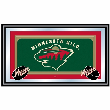 Minnesota Wild Team Logo Bar Mirror