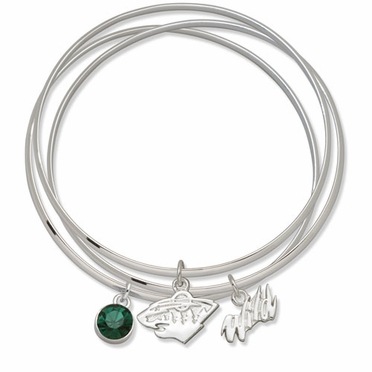 Minnesota Wild Triple Bangle Bracelet