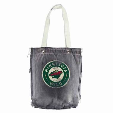 Minnesota Wild Vintage Shopper (Black)