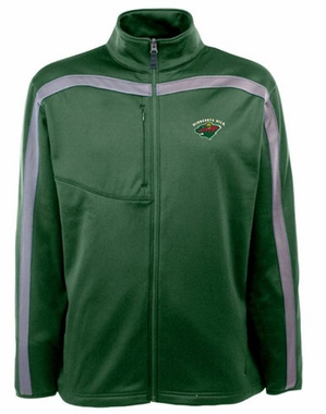 Minnesota Wild Mens Viper Full Zip Performance Jacket (Team Color: Green)
