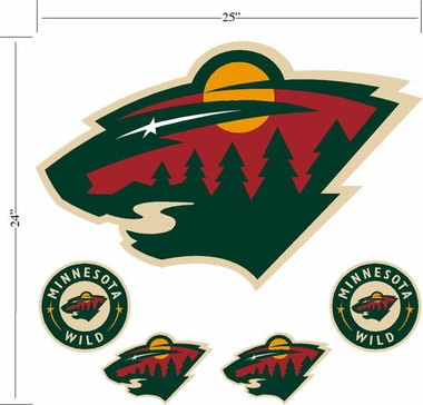 Minnesota Wild Wallmarx Large Wall Decal