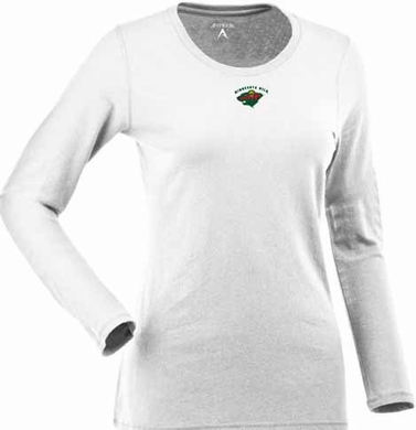 Minnesota Wild Womens Relax Long Sleeve Tee (Color: White)