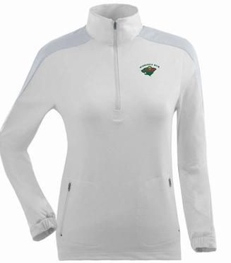 Minnesota Wild Womens Succeed 1/4 Zip Performance Pullover (Color: White)