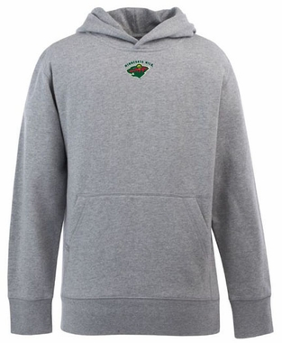Minnesota Wild YOUTH Boys Signature Hooded Sweatshirt (Color: Gray)