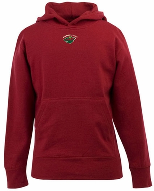 Minnesota Wild YOUTH Boys Signature Hooded Sweatshirt (Color: Red)